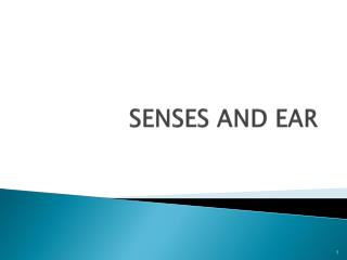 SENSES AND EAR
