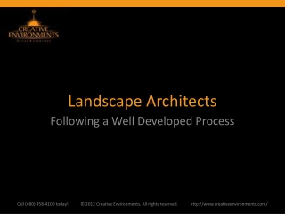 Landscape Architects: Following a Well Developed Process