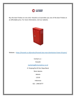 Fire box  Hooseki.co.id