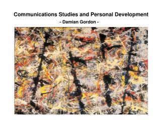 Communications Studies and Personal Development
