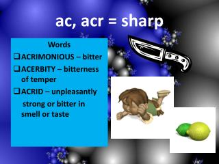 Ac, acr  sharp