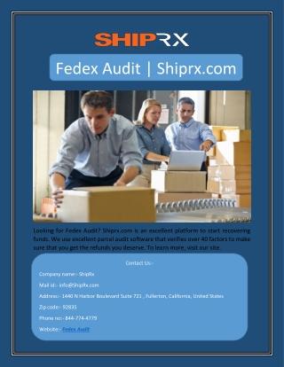 Fedex Audit | Shiprx.com