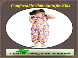 Comfortable Night Suits for Kids