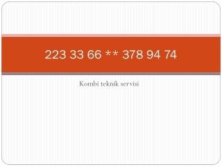 ERYAMAN VAİLLANT SERVİSİ % 378 94 74 * VAİLLANT KOMBİ SERVİS