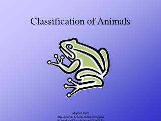 Classification of Animals
