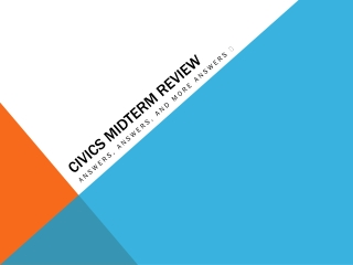 Civics Midterm Review