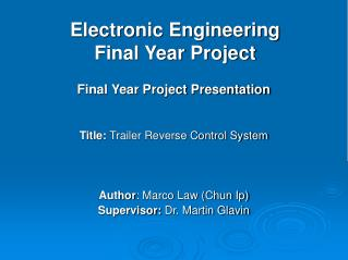 Electronic Engineering  Final Year Project