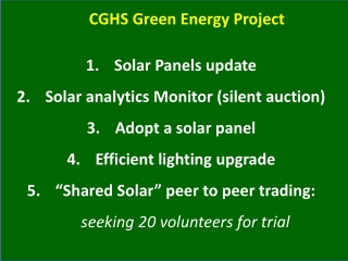 CGHS Green Energy Project