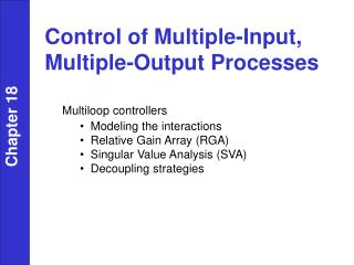 Control of Multiple-Input, Multiple-Output Processes