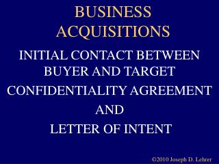 BUSINESS ACQUISITIONS
