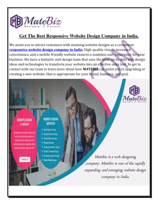 Connect With The  Best Responsive Website Design Company in India.