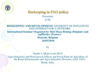 Beekeeping in FAO policy.