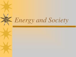 Energy and Society