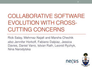 COLLABORATIVE SOFTWARE EVOLUTION WITH CROSS-CUTTING CONCERNS