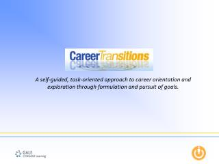 A self-guided, task-oriented approach to career orientation and exploration through formulation and pursuit of goals.