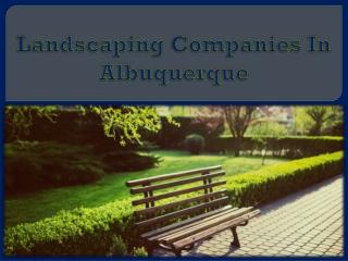 Landscaping Companies In Albuquerque