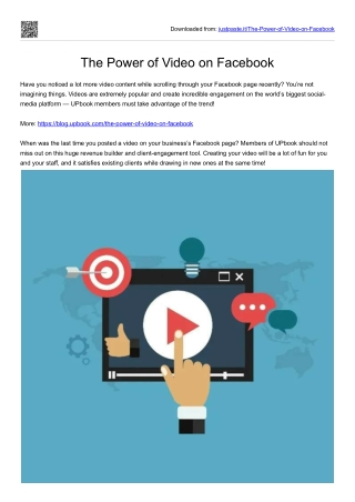 The Power of Video on Facebook