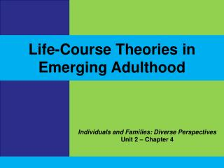 Individuals and Families: Diverse Perspectives Unit 2 – Chapter 4