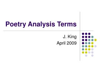Poetry Analysis Terms