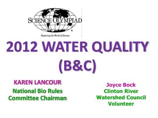 2012 WATER QUALITY  (B&C)