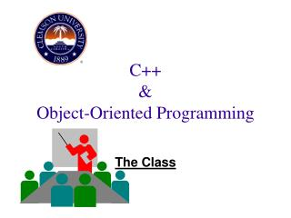 C++  &  Object-Oriented Programming