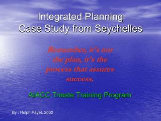 Integrated Planning Case Study from Seychelles