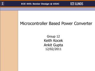 Microcontroller Based Power Converter