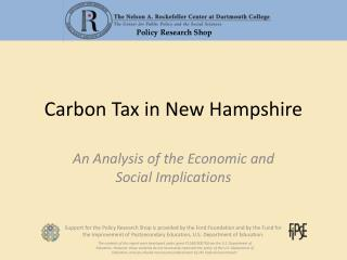 Carbon Tax in New Hampshire