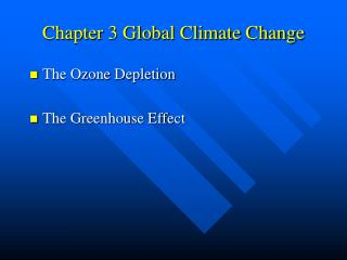 Chapter 3 Global Climate Change