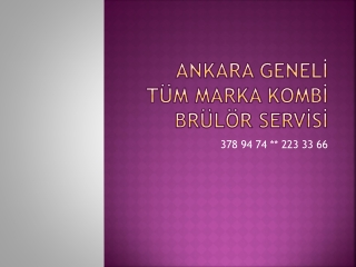 ankara ÇAYYOLU VAİLLANT KOMBİ SERVİSİ (379 01 01 ) KOMBİ SER