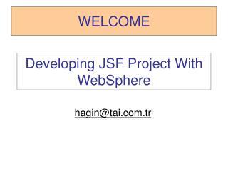 Developing JSF Project With WebSphere