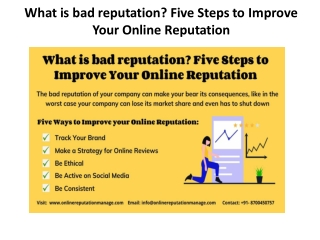 personal reputation management companies - Five Ways to Improve your Online Reputation