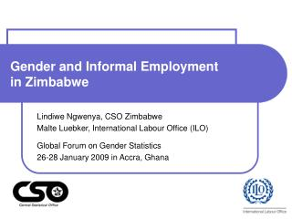 Gender and Informal Employment  in Zimbabwe