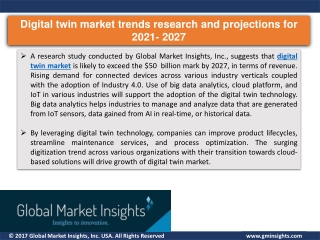 Digital twin market research report by 2021 to 2027