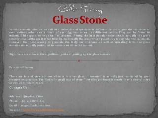 Recycled Glass Rocks