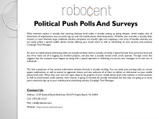 Political Push Polls And Surveys