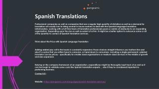 Spanish Translations