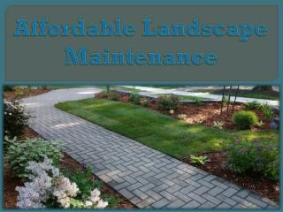 Affordable Landscape Maintenance