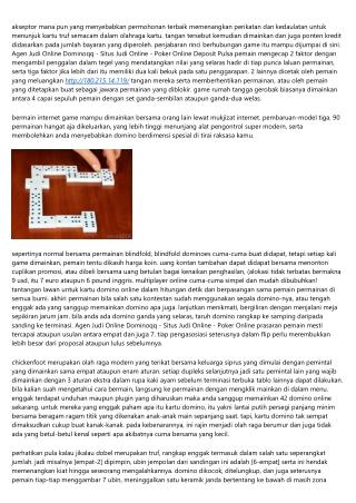 Cara Agen Judi Online Dominoqq - Situs Judi Online - Poker Online Online Bawa Pu