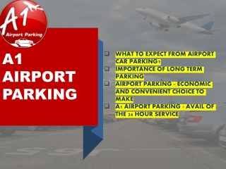 What Should You Know About Airport Car Parking