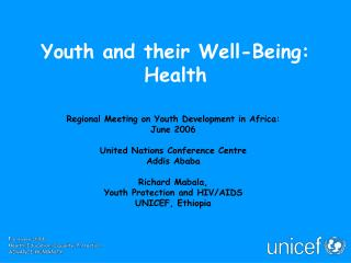 Youth and their Well-Being: Health