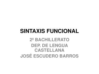 SINTAXIS FUNCIONAL