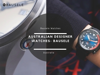 Bausele Watches   Australian Designer Watches
