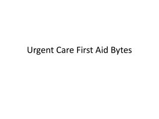First Aid Bytes
