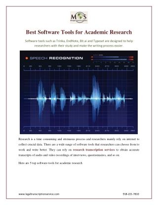 Best Software Tools for Academic Research