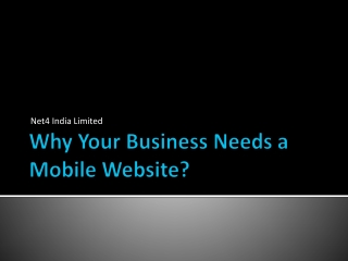 Why Your Business Needs a Mobile Website?