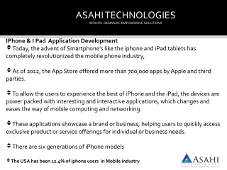 Iphone ipad application development