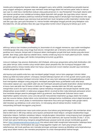 Teknik Luar Biasa Sederhana, Pemakaian Teknik Pas Pada Jasa Penerjemah Tersumpah