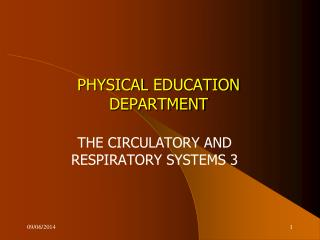 PHYSICAL  EDUCATION DEPARTMENT