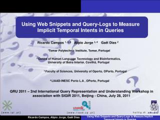 Using Web Snippets and Query-Logs to Measure Implicit Temporal Intents in Queries
